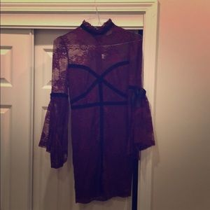 ASOS Maroon Lace Dress Size 4